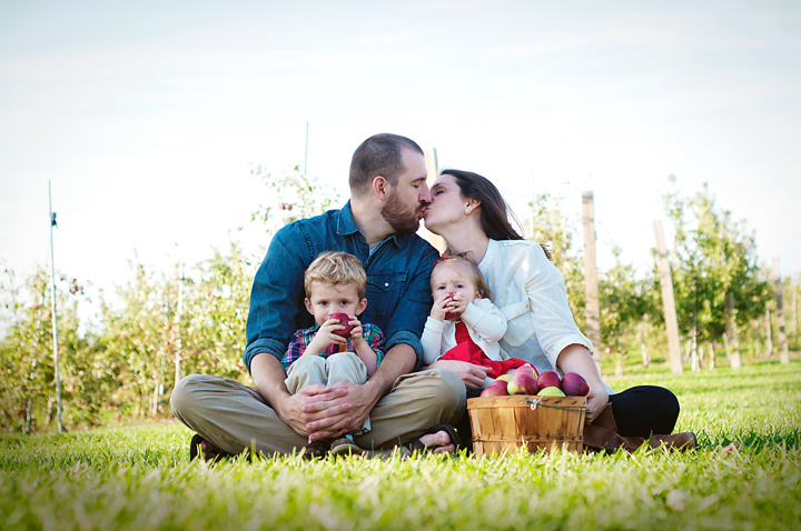{Family in the Orchard} by Lacy Marie Photography in Omaha NE
