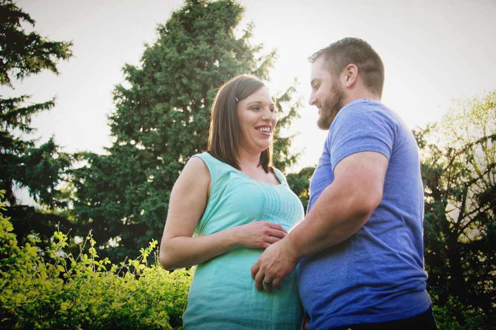 Maternity session at Momorial Park. by Lacy Marie Photography in Omaha NE