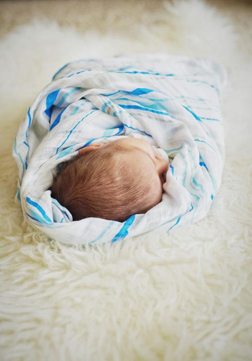{Newborn baby boy}