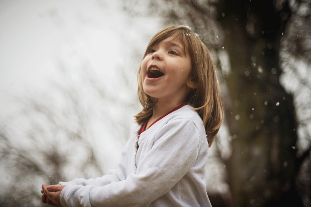Catching Snow Flakes - {My Kids}, by Lacy Marie Photography in Omaha NE